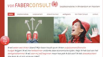 Oude website Von Faber Consult